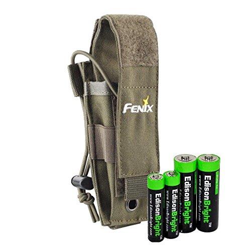 EdisonBright flashlight holster alkaline battery product image