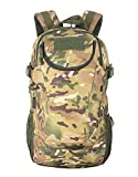 Team Pistol Tactical Military Camouflage Backpack Outdoor Hiking Trekking Climbing Cycling Multi-functional Waterproof Backpacks (20-25L)