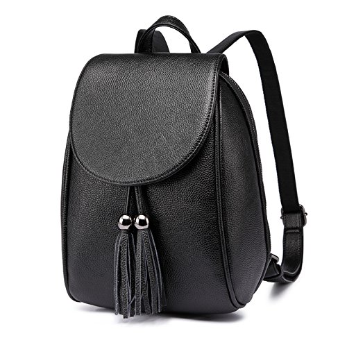 Litchi Bag Leisure Mochila Fashion Patrón Shoulder 2018 BAILIANG Tassel Black Mujer PZqgOw