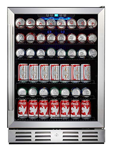 "Kalamera 24"" Beverage Refrigerator 175 Can Built-in or Freestanding Single Zone Touch Control"