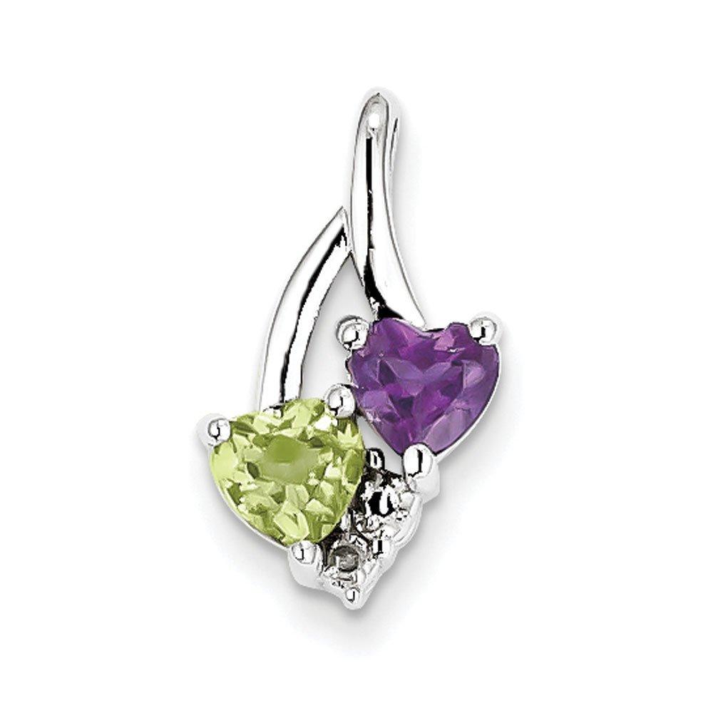 West Coast Jewelry Sterling Silver Amethyst Pendant