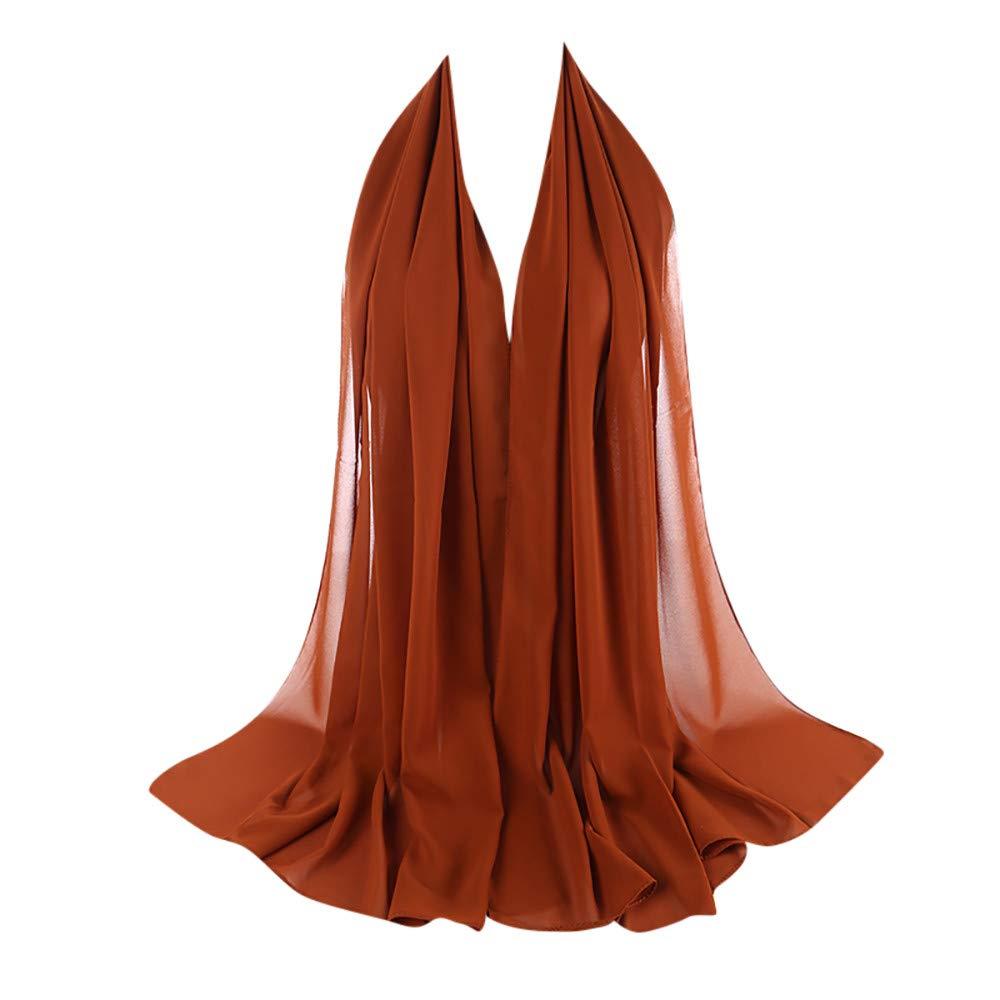 HEETEY Zubeh/ör,Mode L/ässige Frauen Plain Bubble Chiffon Schal Hijab Wrap pearl muslimischen Schal Stirnband muslimische Hijabs