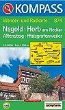 Nagold, Horb am Neckar, Altensteig, Pfalzgrafenweiler 1 : 25 000. GPS-genau