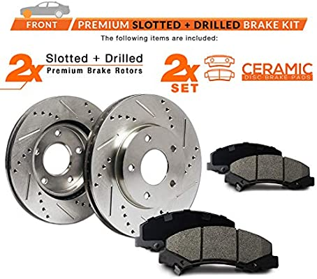 Max Brakes Front /& Rear Premium XD Rotors and Ceramic Pads Brake Kit KT011323-21