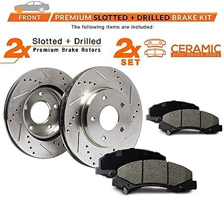 Max Brakes Front /& Rear Premium XD Rotors and Ceramic Pads Brake Kit KT011323-21