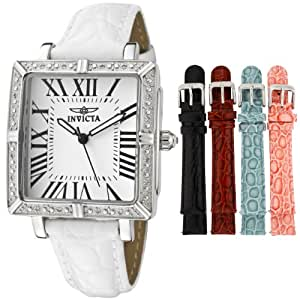 Invicta Women's 11729 Wildflower Diamond Accented Interchangeable Leather Strap Watch Set