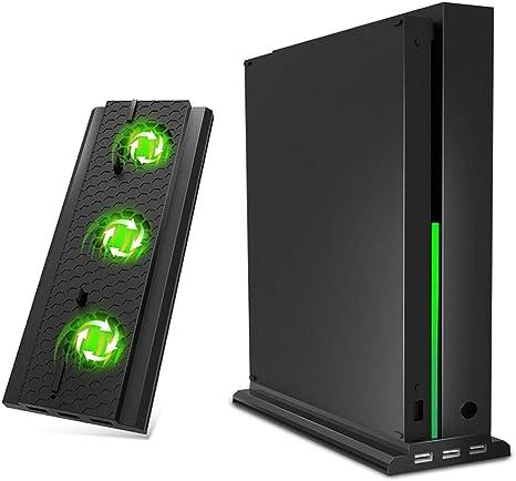OIVO - Soporte vertical compatible con Xbox One X, ventilador de ...