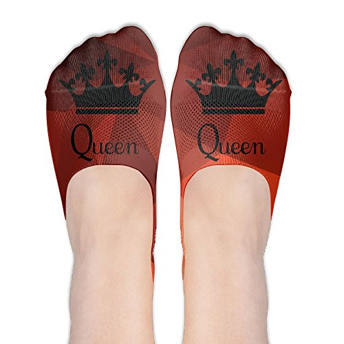 Updated King And Queen Couple Lover Polyester Cotton Deodorant Ankle Socks Non Slip Socks For Women Girl by Oksalesocks