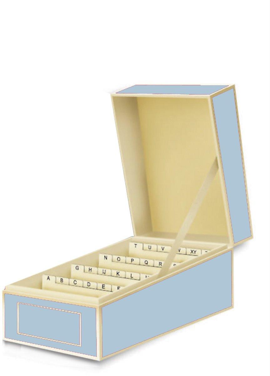 Semikolon Business Card File Box, Dividers A to Z, Ciel Sky Blue (3230009)