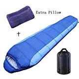 Cheap Camping Sleeping Bag, ihoven Lightweight Portable Waterproof Envelope Mummy Sleeping Bags Comfort With Compression Sack Perfect for Camping, Hiking, Traveling, Backpacking (mummy)