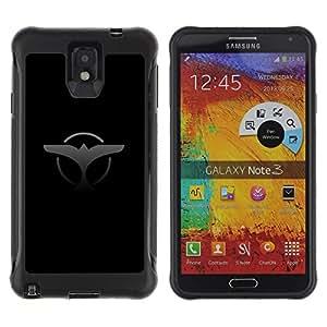 iKiki Tech / Estuche rígido - Eagle Badge Sign Symbol Art Black Grey Drawing - Samsung Note 3