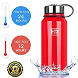 Your search for the best double wall vacuum insulated water bottle is over! Say hello to the HvDrink!DON'T WANT TO HOLD A SWEATY PLASTIC BOTTLE?The HvDrink is made of premium 18/8 food grade stainless steel. This bottle keeps your drinks cold & h...