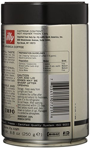 Illy Caffe Scuro Whole Bean Coffee (Dark Roast,), 8.8-Ounce Tins by Illy (Image #3)