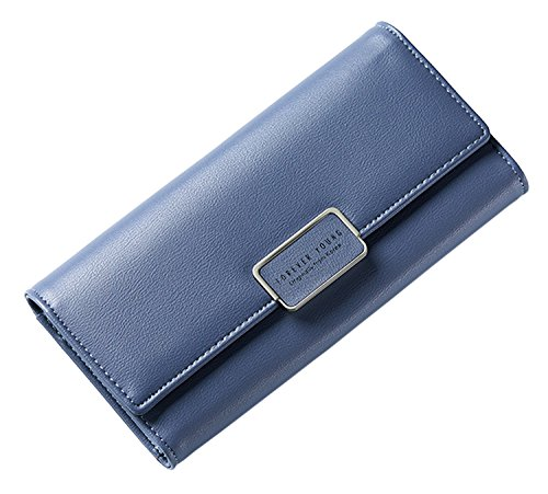 Pu SAIERLONG Holder blue Womens Purple Dark Case Leather New Clutch Wallet Purse qUrU8tnB