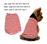 Red Striped T-shirt, Small, My Pet Supplies