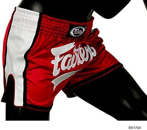 Fairtex Muay Thai Shorts BS1704 R/ød//Hvid