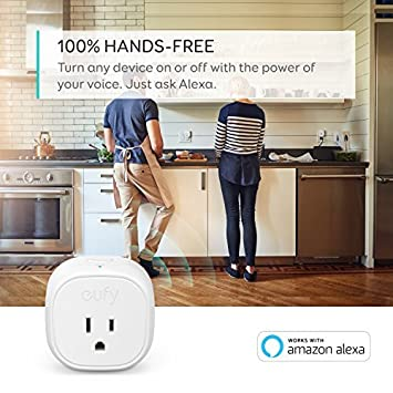 Energy Monitoring eufy Smart Plug by Anker, No Hub Required, Works With Amazon Alexa and the Google Assistant, Wi-Fi Enabled, White, Set Schedules, Countdown Timer, Control Remotely, Away Mode