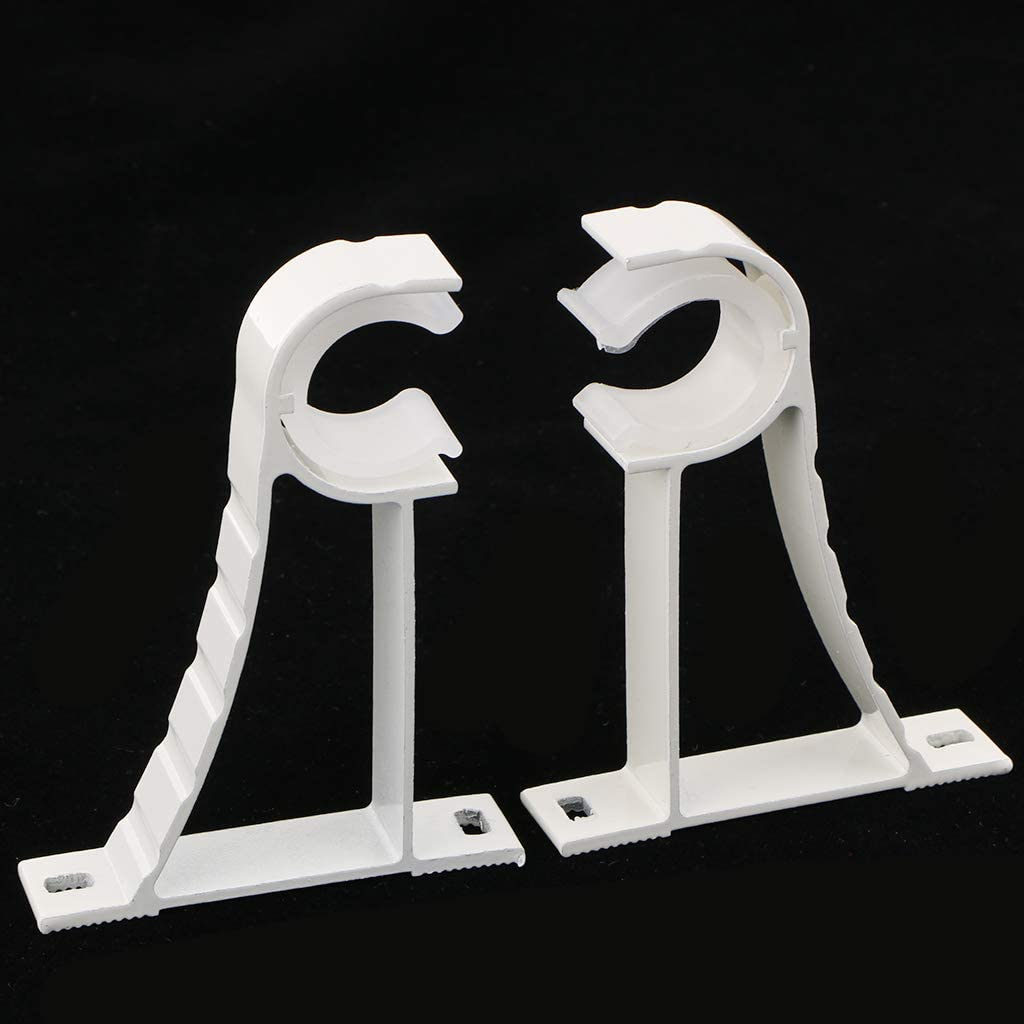 FutuHome 2 St/ü Vorhangstangenhalterungen Aus Aluminium F/ür Stangen Mit 28 Mm Durchmesser Wei/ß