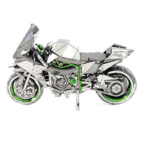 Fascinations Metal Earth ICONX 3D Laser Cut Model Kit Kawasaki Ninja H2R Motorcycle