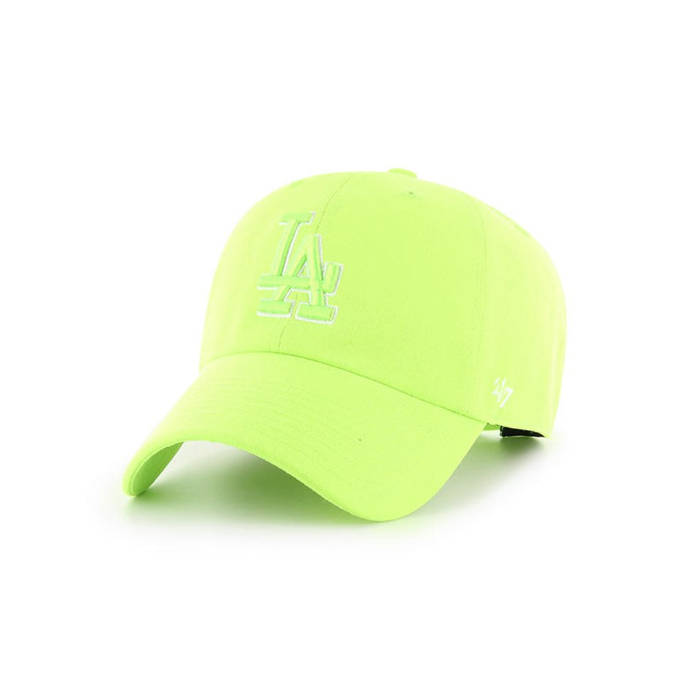 '47 Brand Los Angeles Dodgers Neon Clean up Slouch Fit Hat (Neon Green)