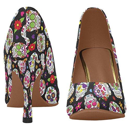 InterestPrint Womens Fashion High Heel Dress Pump Shoes Multi 4 wThENZmty
