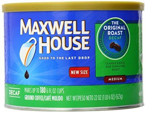 Maxwell House Original Roast Decaf Medium Coffee 22 oz Can