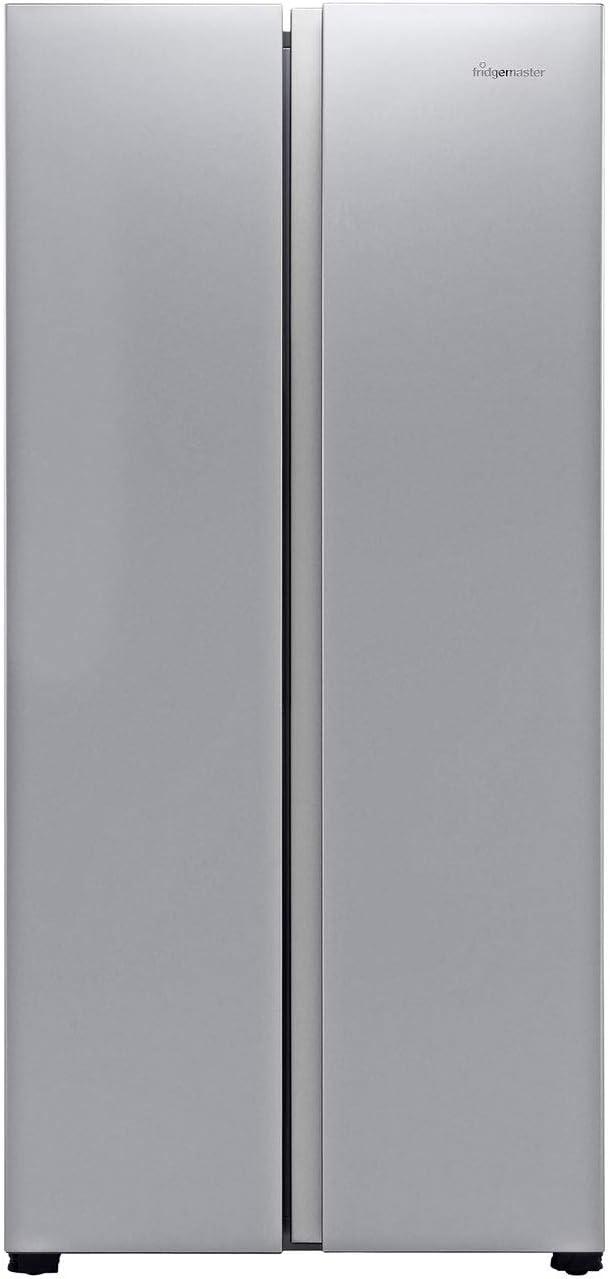 Fridgemaster MS83430FFS American Fridge Freezer Rated Silver A