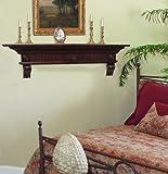Pearl Mantels 416-60-70 Devonshire Fireplace Mantel Shelf, 60-Inch, Distressed Cherry