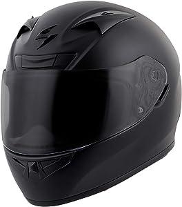 Scorpion EXO-R710 Solid Street Motorcycle Helmet (Matte Black, Medium)