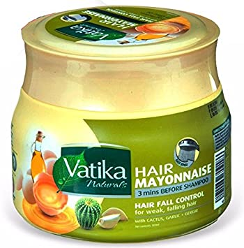 Dabur Vatika Naturals Hair Mayonnaise Treatment, 3 Mins Before Shampoo, 500 ml Provides Nourishment Of Essential Oils And Conditioning From Egg Proteins Treating Hair Hair Fall Control