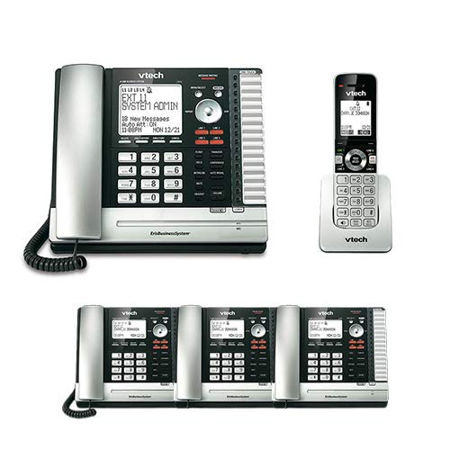 VTech UP416 Office Bundle Corded Phone System with (3) UP406 Corded Extension Deskset and UP407 Cordless Handset by VTech (Image #3)