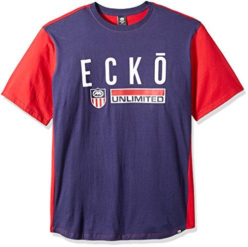 Ecko Unlimited Rhino - Ecko Unlimited Men's Rhino United Ss Knit, Navy, 3X Big