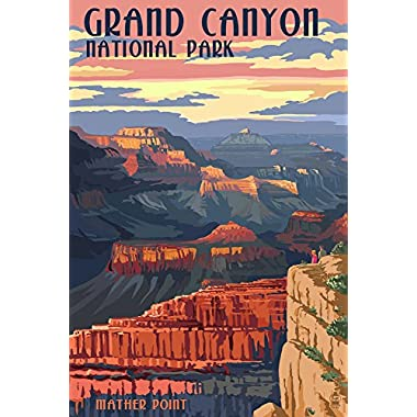 Grand Canyon National Park - Mather Point (16x24 Giclee Gallery Print, Wall Decor Travel Poster)