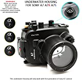 MEIKON 130ft/40m Underwater Camera Diving Waterproof Housing Case for Sony A7/A7r/A7s 28-70mm Lens Camera