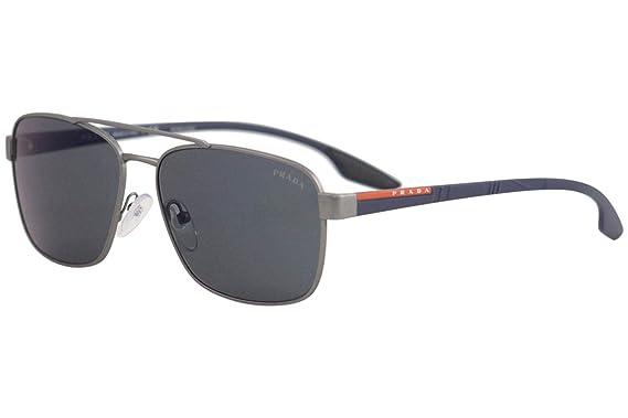 Prada Linea Rossa 0PS 51US Gafas de sol, Gunmetal Rubber, 62 ...