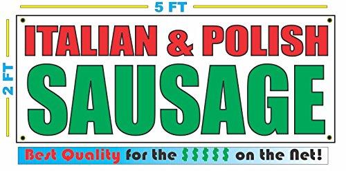 ITALIAN & POLISH SAUSAGE Banner sign