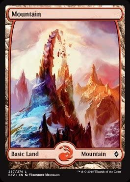 Full Art Magic the Gathering MTG - Battle for Zendikar 4 x Mountain 267//274