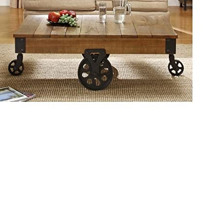 TRIBECCA HOME Myra Vintage Industrial Modern Rustic Cocktail Table