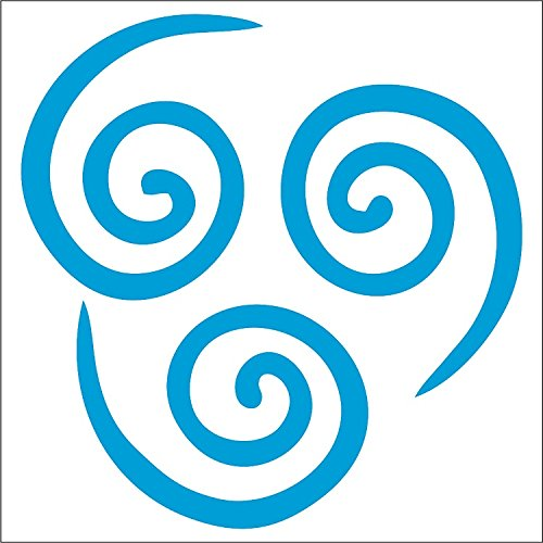 Air Nomad Decal / Sticker - Light Blue 4- Aang, The Last Air Bender, Avatar