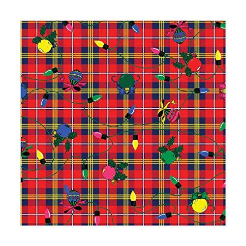 Christmas Plaid Bandana - Single Piece 22x22