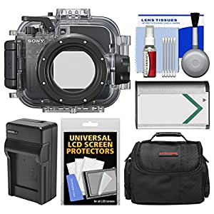 Sony MPK-URX100A Marine Underwater Housing Case for RX100, II, III, IV & V Digital Cameras with Case + Battery & Charger + Cleaning Kit