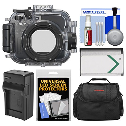 Sony MPK-URX100A Marine Underwater Housing Case for RX100, II, III, IV & V Digital Cameras with Case + Battery & Charger + Cleaning Kit by Sony