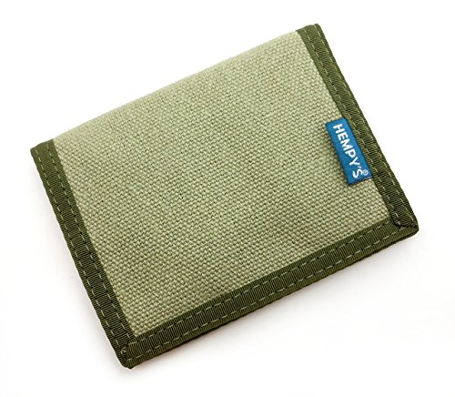 Hempy's Hemp Bi-fold Wallet – Green – One Size