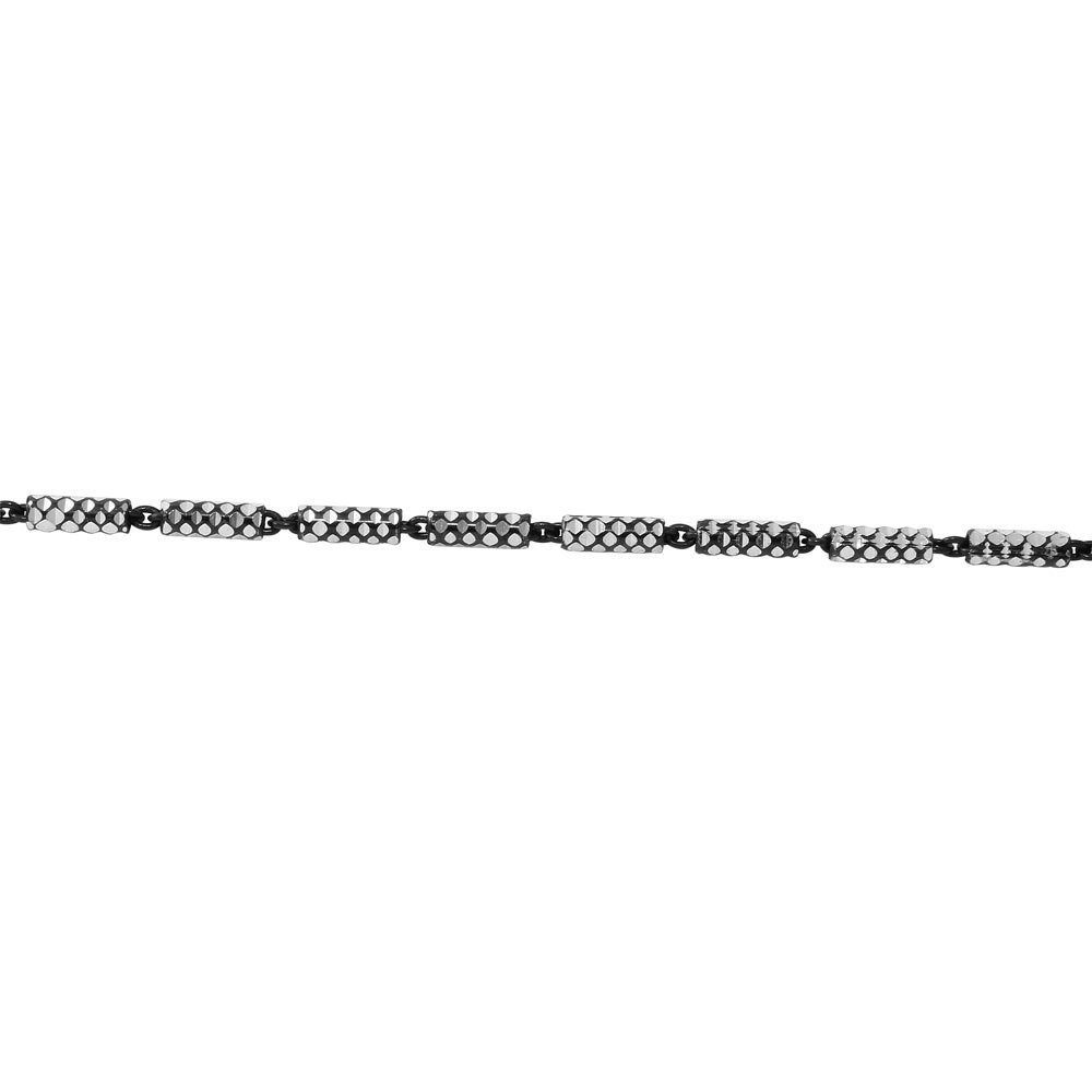 Princess Kylie Black Rhodium Plated Sterling Silver Tube 2 Brite Close FT B//W 030 Chain