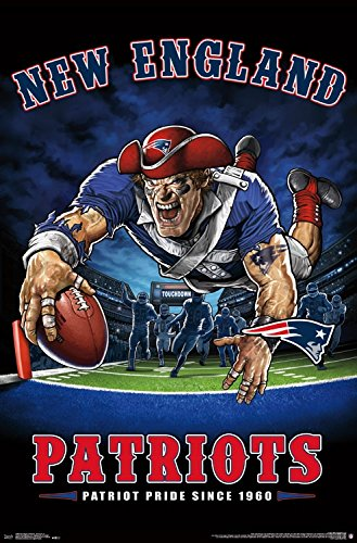 7f9138ff0 Trends International Wall Poster New England Patriots End Zone 22.375 quot   ...