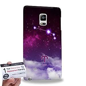 Case88 [Samsung Galaxy Note Edge] 3D impresa Carcasa/Funda dura para & Tarjeta de garantía - Art Universe Purple Aries 12 Zodiacal