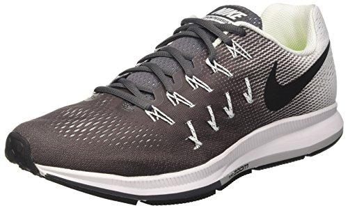 Nike Mens Zoom Air Pegasus 33 Grigio Scuro / Nero - Bianco