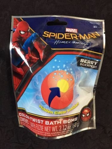 Spider-Man Color-Twist Kids Bath Bomb Fizzie- 1 pack