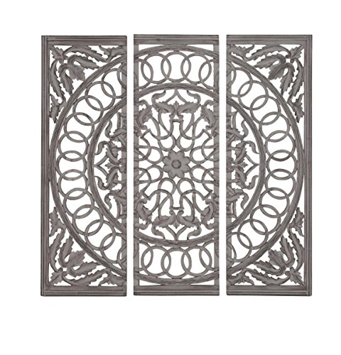 Deco 79 Wood Mirror Panel, 48 by 48-Inch, Set of 3 by Deco 79