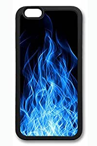 VUTTOO iPhone 6 Case, 6 Case - SOFT-Interior Scratch Protection Rubber Case for iPhone 6 Blue Flame Shape Protection Slim Trendy Black Back Case for iPhone 6 4.7 Inches by runtopwellby Maris's Diary